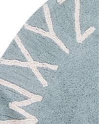 lorena canals round machine washable abc rug blue natural 100