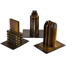 machine age walter von nessen bookends for chase modern bookends