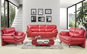 White Leather Sofa Living Room Ideas by Magnificent White Leather Sofa Sets Equipped With Red Cushion On