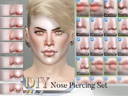 pralinesims diy nose piercing set