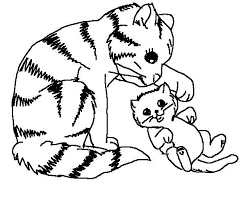 Cat And Kitten Coloring Pages kitten coloring pages getcoloringpages