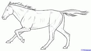 easy horse drawing for kids coloring pages clip art library