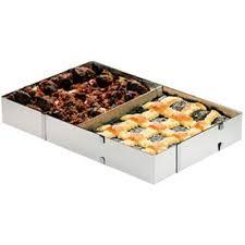 emporte rectangulaire cuisine cadre à patisserie inox réglable rectangulaire achat vente