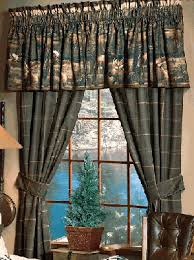 Cabin Style Curtains Pleasurable Ideas Moose Curtains Mountain Window Treatments Cabin
