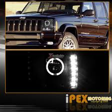 jeep commander black headlights lhp chke97jm rs by spec d a black color led bulb 4 5
