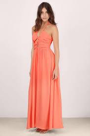 orange dress halter dress fluorescent orange dress maxi