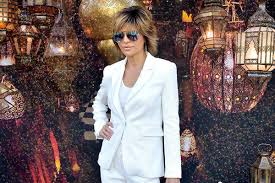 what skincare does lisa rimma use lisa rinna s sequined white coachella pantsuit by rachel zoe most