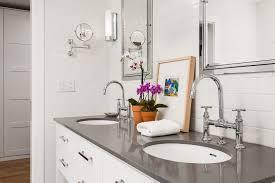 Silestone Grey Expo Bathroom Contemporary With Restoration - Bathroom vanities with tops restoration hardware