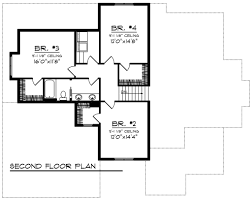 craftsman style house plan 4 beds 2 50 baths 2784 sq ft plan 70
