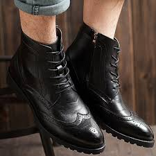 mens lace up motorcycle boots elegant stylish quality vintage leather ankle oxfords boots mens