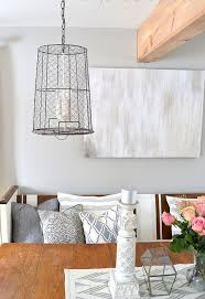 wire pendant light fixtures chicken wire storage basket pendant lights hometalk