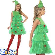 Womens Prisoner Halloween Costume Ladies Green Tutu Christmas Tree Fancy Dress Womens Festive