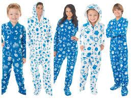 matching family pajamas family hanukkah footed pajamas
