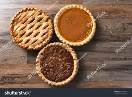thanksgiving desserts on wood surface stock photo 341988827