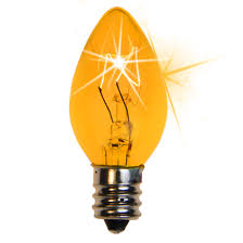 c7 light bulb c7 twinkle yellow light bulbs