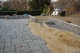 Making A Paver Patio by How To Make A Stone Patio Wall Patio Outdoor Decoration