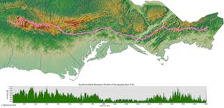 New York Appalachian Trail Map by Awesome Map And Elevation Profile Of The Entire Trail