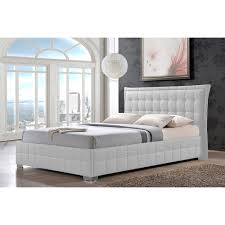 White King Size Bed Frame Beautiful Whiteg Manuscript Upholstered Headboard Paper Leather