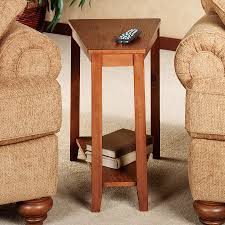 leick recliner wedge end table furniture wedge end table plans shaped with drawer tables canada