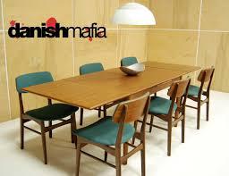 Teak Dining Room Chairs Mid Century Modern Teak Dining Complete Set Table 6