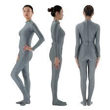 headless costume women s lycra spandex headless zentai suit turtleneck unitard