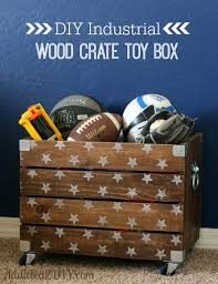 How To Make A Wood Toy Chest by Diy Industrial Wood Crate Toy Box Addicted 2 Diy