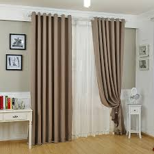 elegant and discount curtains drapes in dark coffee color