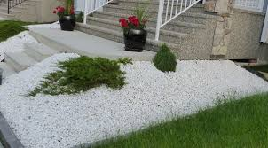 White rock for landscaping different texture of decorative stones