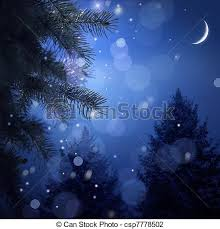 snowy christmas pictures snowy forest on christmas night stock photo search pictures and