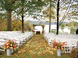 fall wedding outstanding fall inspired wedding ceremony arrangement