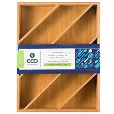 amazon com diagonal space saving bamboo drawer and cabinet