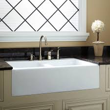 White Kitchen Sink With Drainboard : Image of: White Porcelain Kitchen Sink At Lowes