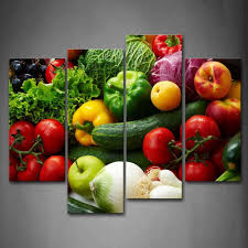 modern kitchen art paintings amazon com colorful various vegetables wall art painting pictures