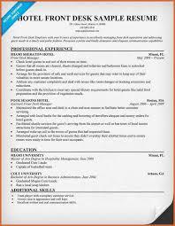 Front Desk Cv Hotel Front Desk Resume Resume Name