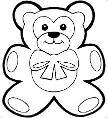 teddy bear attractive small coloring pages for kids fsk