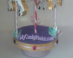 Carousel Horse Centerpiece by 3d Carousel Cake Topper Or Centerpiece