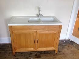 free standing kitchen sink units brilliant kitchen habitat oliva olivia solid beech freestanding