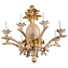 Pineapple Sconce Italian Carved Wood Pineapple Chandelier For Sale At 1stdibs