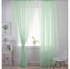 Green Sheer Curtains Fresh Light Green Comfortable Lace Curtain Sheer Curtain