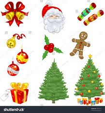 vector clip art christmas icons including stock vector 18970171