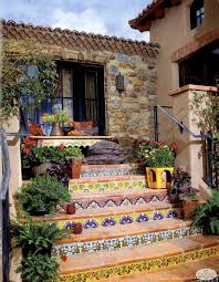 Spanish Style Courtyards by Hacienda Tiled Staircase All Things Candelaria Design