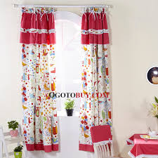 Window Curtains Sale Cute Window Curtains Privacy Pattern Printed Red Buy Red Print