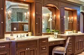 double bathroom vanities with makeup area ideas including table