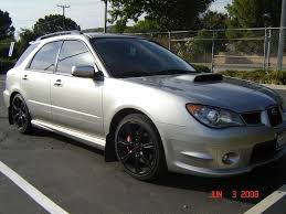 subaru rsti wagon stock rims blacked out on 06 subie wagon subaru pinterest