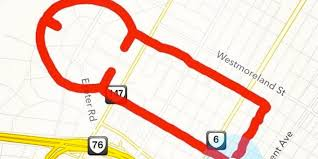Map Run Route by Cocky Jogger Thinks She U0027s Funny With Shaped Running Routes