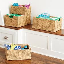 water hyacinth storage bins with handles the container store