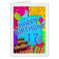 17th birthday greeting cards zazzle com au
