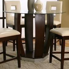 round table bar cramco inc contemporary design emerson round tempered glass pub