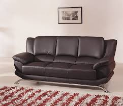 Black Leather Sofa Modern Modern Line Furniture 9908bs Contemporary Leather Sofa