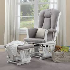 Dorel Rocking Chair Slipcover Dorel Home Furnishings Simone White Glider Chair And Ottoman